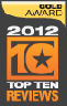 Top Ten Award Gold 2012